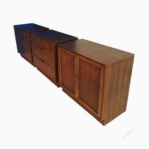 Walnut Perception Cabinets by Warren Church for Lane Furniture, 1960s, Set of 3