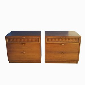 Walnut Perception Cabinets by Warren Church for Lane Furniture, 1960s, Set of 2