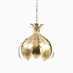 Mid-Century Danish Brass Ceiling Lamp by Svend Aage Holm Sørensen, 1960s