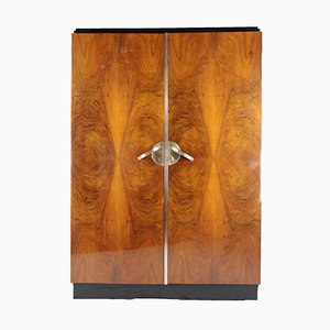 Art Deco Walnut Wardrobe, 1920s