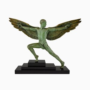 Art Deco Icarus Sculpture by Max Le Verrier, 1930s