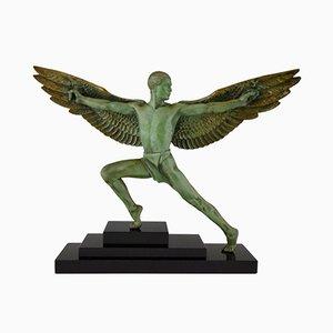 Scultura Icarus Art Déco di Max Le Verrier, anni '30