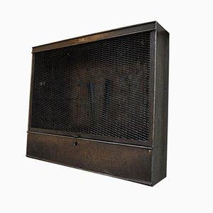 Mueble de herramientas industrial vintage de metal, años 50