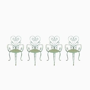 Vintage Italian Garden Chairs, 1950s, Set of 4