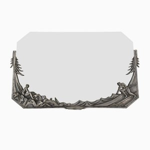 Art Deco French Silvered Bronze Mirror, 1920s