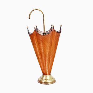 Hammered Copper and Brass Umbrella Stand, 1960s
