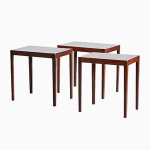 Vintage Rosewood Nesting Tables, 1960s