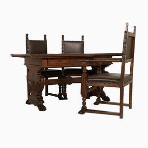 Antikes Set aus Schreibtisch & Stühlen von Dini & Puccini Furniture Factory
