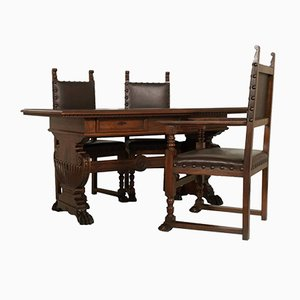 Antique Desk & Chair Set from Dini & Puccini Furniture Factory