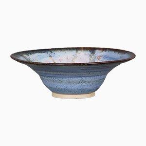 Scodella in ceramica blu di Dyrholm, Danimarca, anni '80