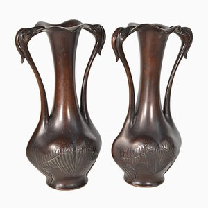 Japanische Vasen aus Japan, 19. Jh., 2er Set