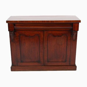 19th-Century Mahogany Storage Cabinet