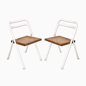 Sedie vintage pieghevoli in acciaio laccato di Giorgio Cattelan, anni '70, set di 2