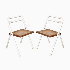 Vintage Laquered Steel Folding Chairs by Giorgio Cattelan, 1970s, Set of 2