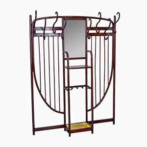 Art Nouveau Mahogany Model 6 Wall Coat Rack from Thonet, 1900s