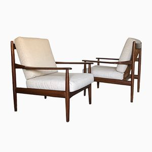 Scandinavian Teak Armchairs, 1960s, Set of 2