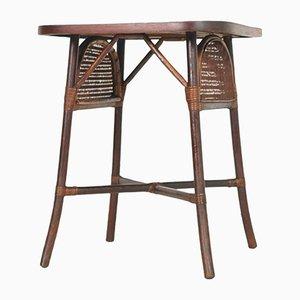 Tavolino Art Déco in stile cinese in legno di noce, Italia, anni '20
