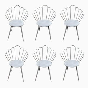 French Garden Chairs, 1920s, Set of 6