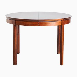 Vintage Round Rosewood Dining Table, 1960s