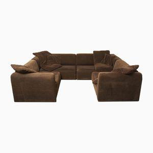 Braunes modulares Sofa, 1970er