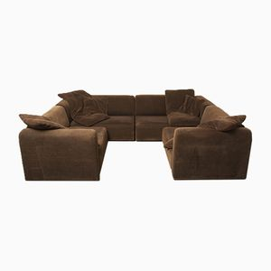 Modular Brown Sofa, 1970s