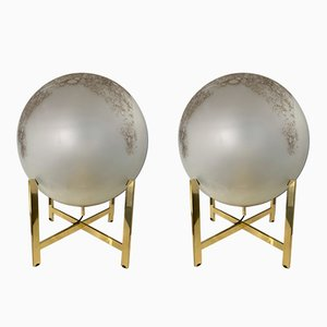 Lámparas italianas de vidrio y latón de La Murrina, años 90. Juego de 2