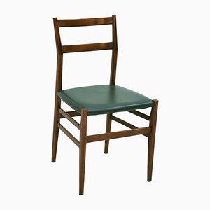 Leggera Stühle mit Gestell aus Eschenholz & Sitz aus Leder von Gio Ponti für Cassina, 1960er, 8er Set