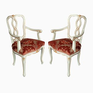 Antique Venetian Baroque Armchairs, Set of 2