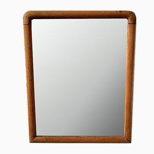 Espejo de pared vintage pequeño de madera, años 30