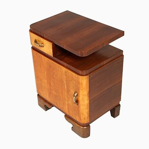 Veneered Elm & Walnut Nightstand by Gaetano Borsani for Atelier Borsani Varedo, 1928