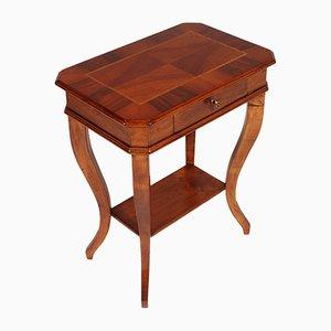 19th-Century Walnut Bedside Table