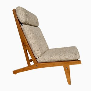 Scandinavian Model GE 375 Lounge Chair by Hans J. Wegner, 1950s