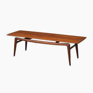 Mid-Century Dutch Teak Coffee Table by Louis van Teeffelen