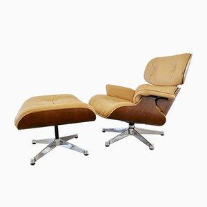 Sessel & Fußhocker von Charles & Ray Eames für Vitra, 1990er