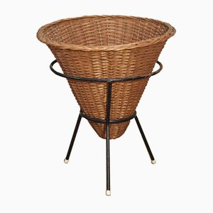 Mid-Century Dutch Wicker Basket