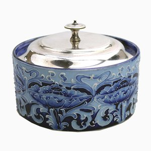 Antique British Art Nouveau Butter Dish by William Moorcroft for Macintyre, 1898