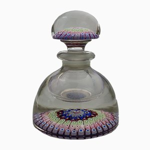 Antique Millefiori Glass Inkwell & Stopper from Stourbridge Glass, 1850s