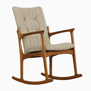 Mid-Century Danish Teak Rocking Chair from Vamdrup