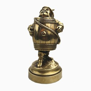 Antique Brass Novelty Wizard of Oz Tin Man Inkwell, 1900s
