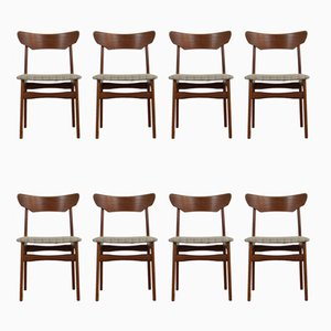 Danish Teak Dining Chairs by Schiønning & Elgaard for Randers, 1960s, Set of 8