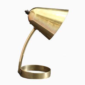 Lampada da scrivania Mid-Century regolabile in ottone di Jacques Biny per Luminalité, anni '50