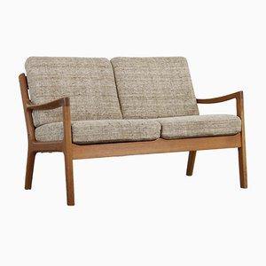 Senator 2-Sitzer Sofa mit Gestell aus Teak von Ole Wanscher für Cado, 1950er