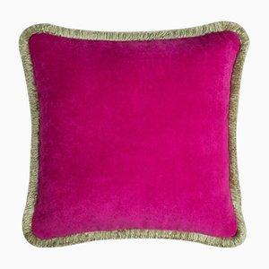 Coussin Happy Pillow Vert Clair et Fuchsia de Lo Decor