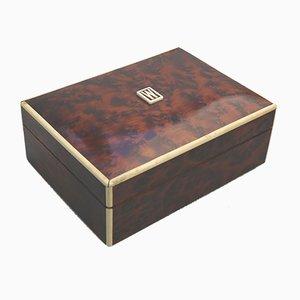 Art Deco Box aus Nusswurzelholz