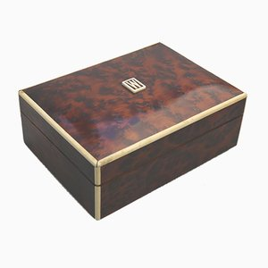 Art Deco Burr Walnut Humidor Box