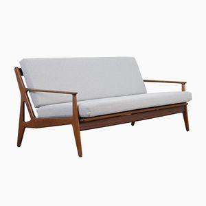 Mid-Century Sofa mit Gestell aus Teak von Arne Vodder für Vamo, 1950er
