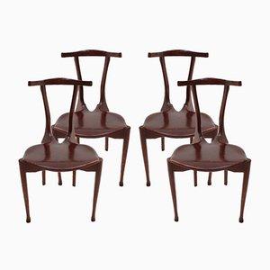 Spanische Gaulino Stühle aus Esche & Leder von Oscar Tusquets, 1987, 4er Set