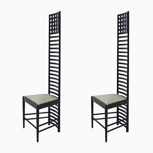 Chaises 292 Hill House 1 en Frêne et Coton par Charles Rennie Mackintosh, Italie, 1960s, Set de 2