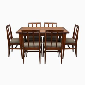 Mid-Century Set aus Esstisch & 6 Stühlen von Younger, 1960er