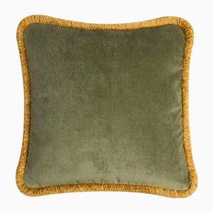 Cuscino Happy Pillow verde chiaro e giallo di Lo Decor